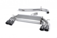 Non-Resonated, Non-Valved Cat-Back with Quad Black Round Tips (For Audi S3 (8V) 2.0 T 3-Door)